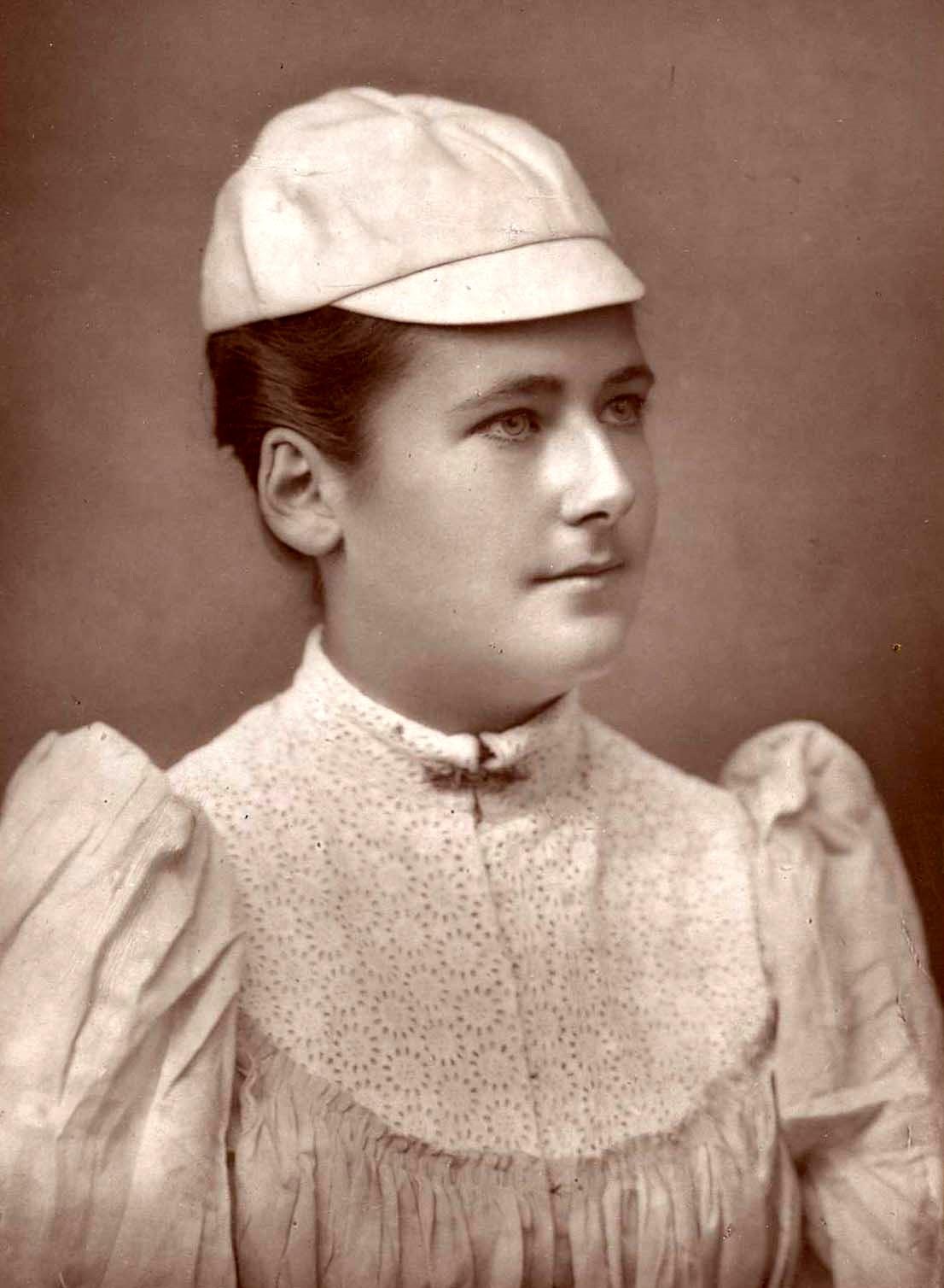 Depiction of Lottie Dod