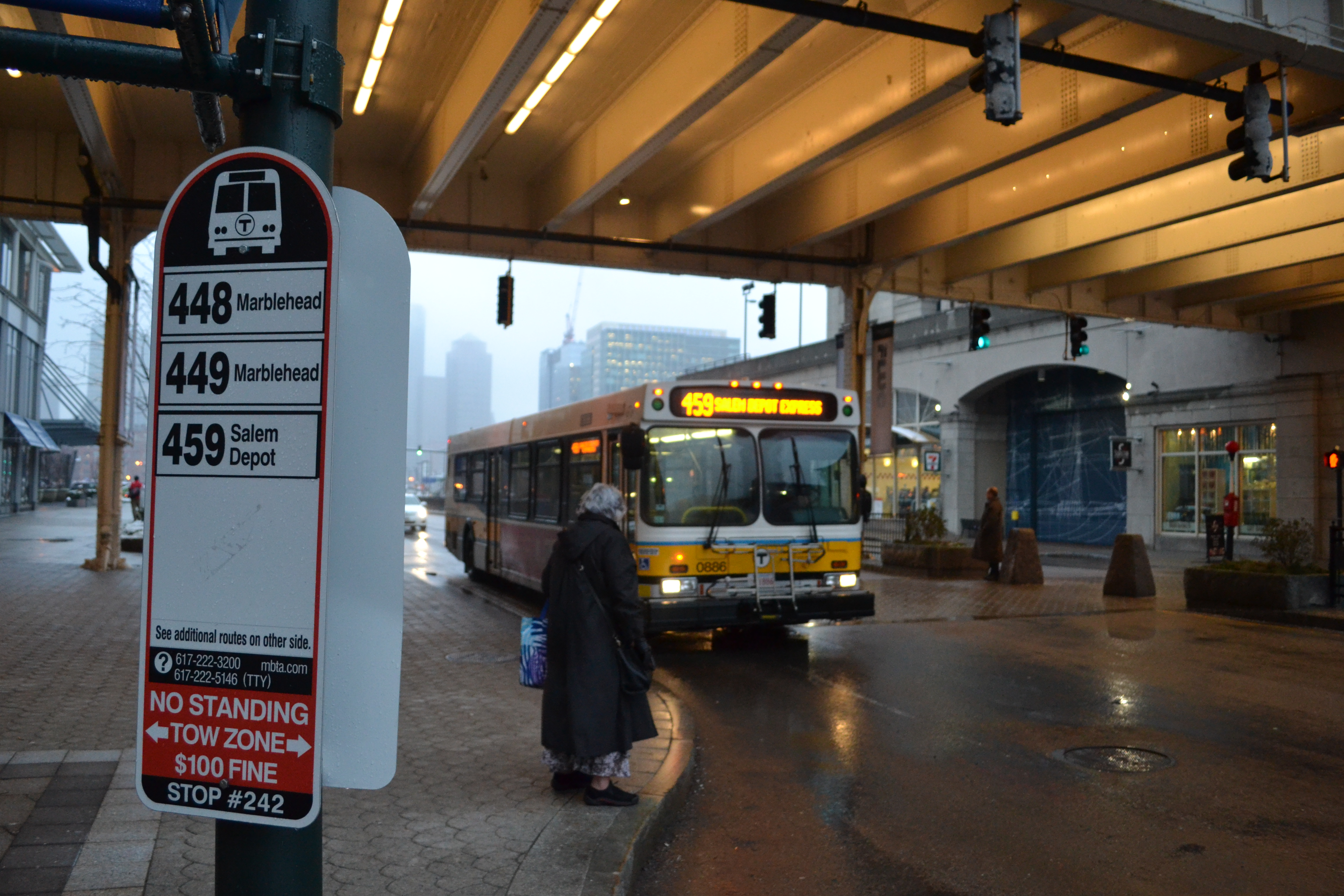 File:MBTA route 459 bus at World Trade Center jpg - Wikimedia Commons