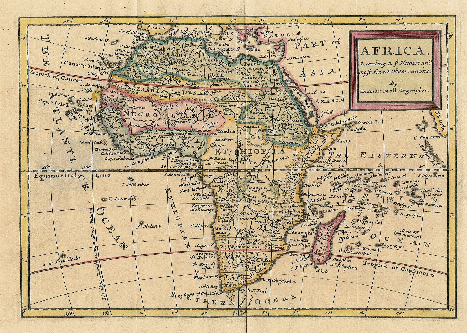 File Map Of Africa By Hermann Moll Jpg Wikimedia Commons