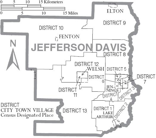 File Map Of Jefferson Davis Parish Louisiana With