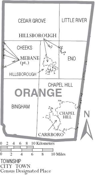 FileMap Of Orange County North Carolina With Municipal And - County map of north carolina