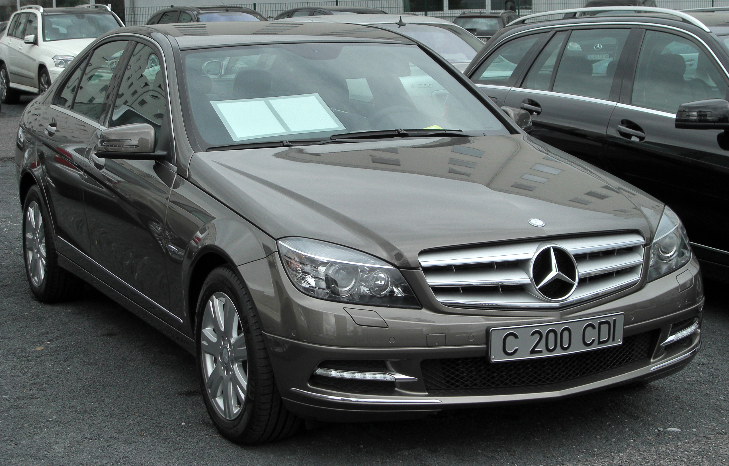 file mercedes c 200 cdi blueefficiency avantgarde front wikimedia commons. Black Bedroom Furniture Sets. Home Design Ideas