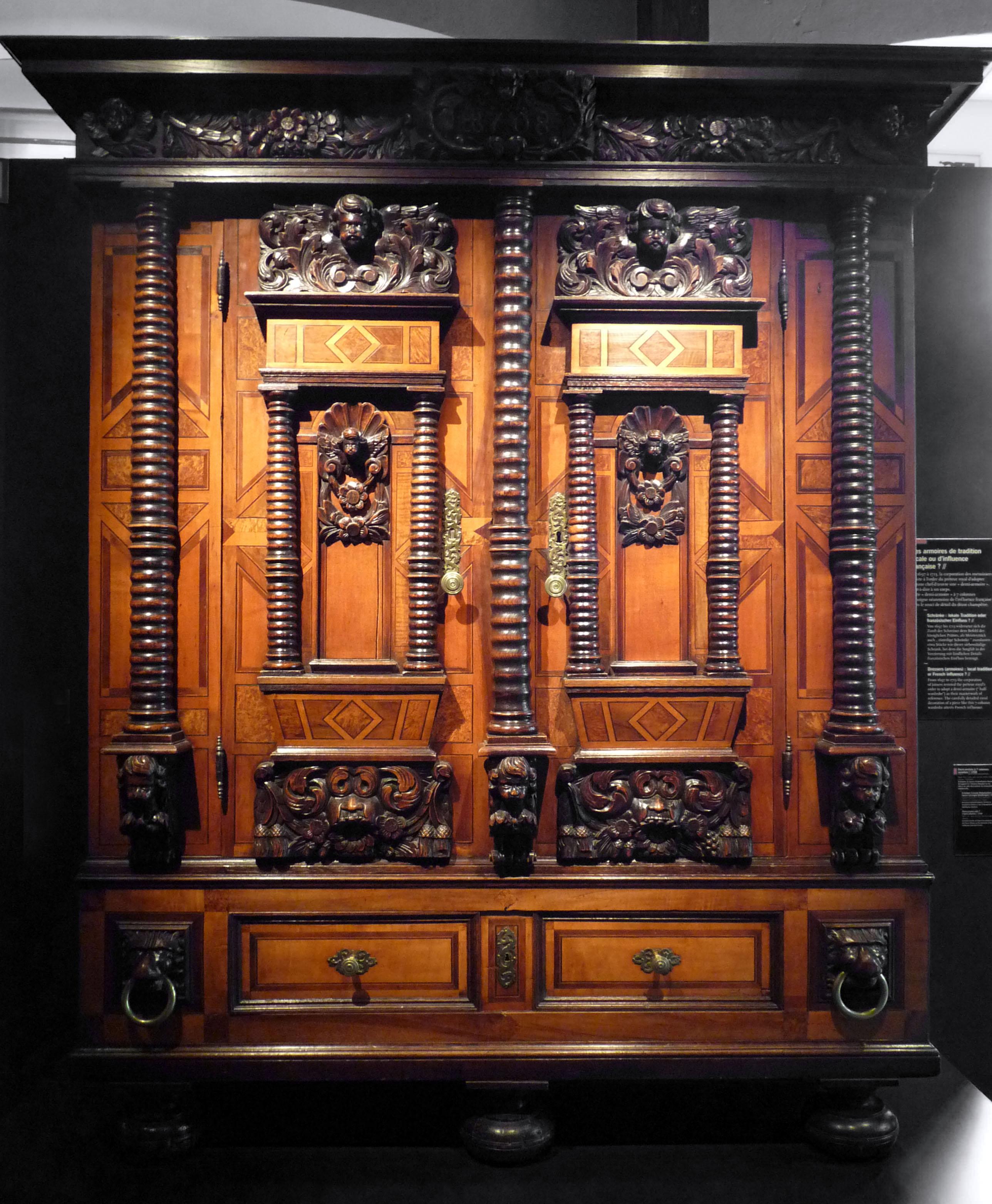 File mus e historique de strasbourg demi armoire wikimedia commons - Armoire colonne chambre ...