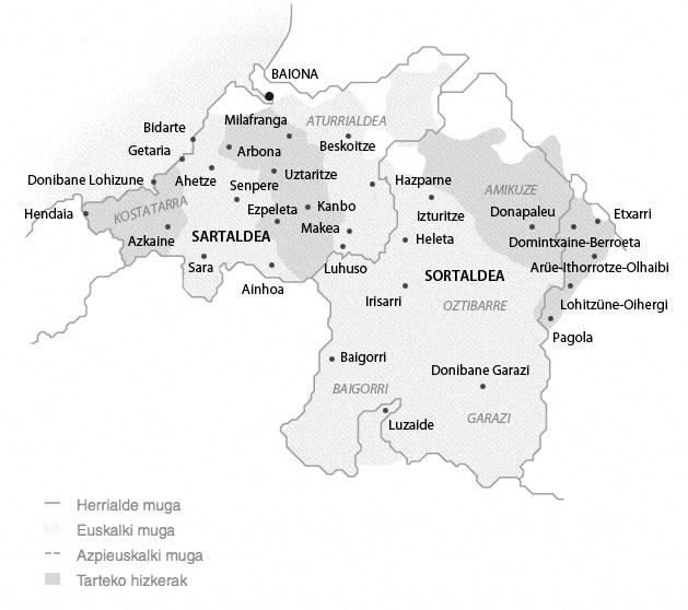 Nafar-lapurteraren mapa