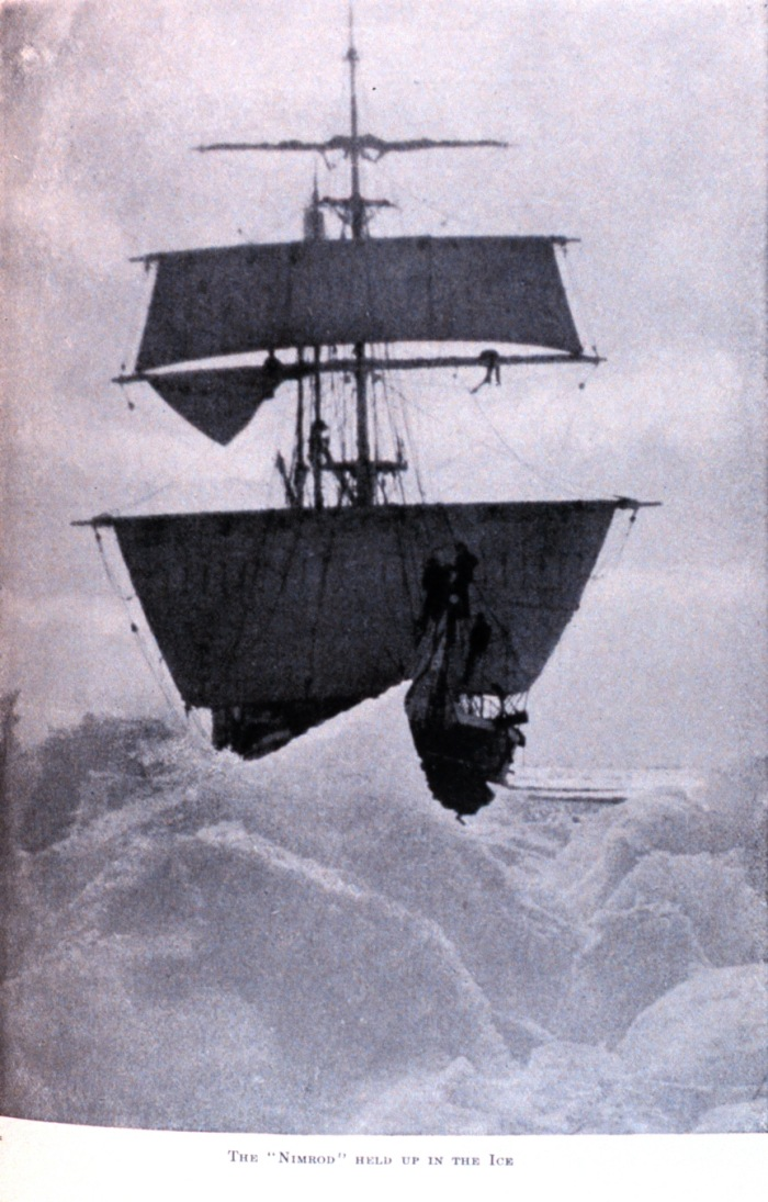In 1911 it was grim irony that the wreck of the &quot;Nimrod&quot; was discovered drifting in the pack ice on Ernest Shackletons birthday by his old rival Roald Amundsen.<span class=EditorText>This post was written by Dirk Puehl the highly recommended author of <a href=https://plus.google.com/u/0/101959956375064214309/posts>#onthisday #history</a> Google+ posts.</span>