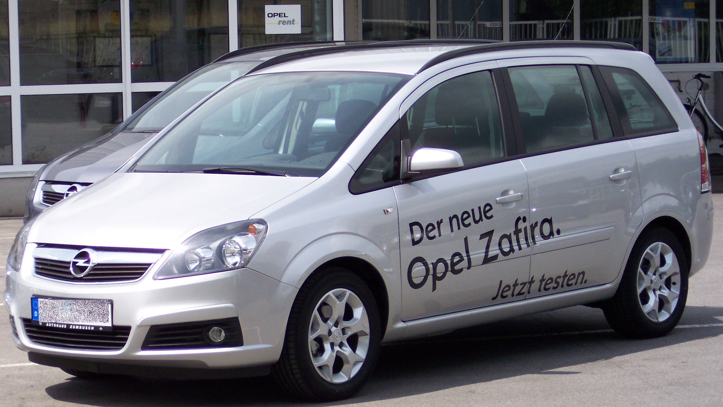 world top cars opel zafira van. Black Bedroom Furniture Sets. Home Design Ideas