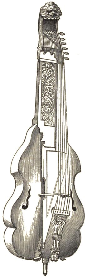 A six-stringed baryton