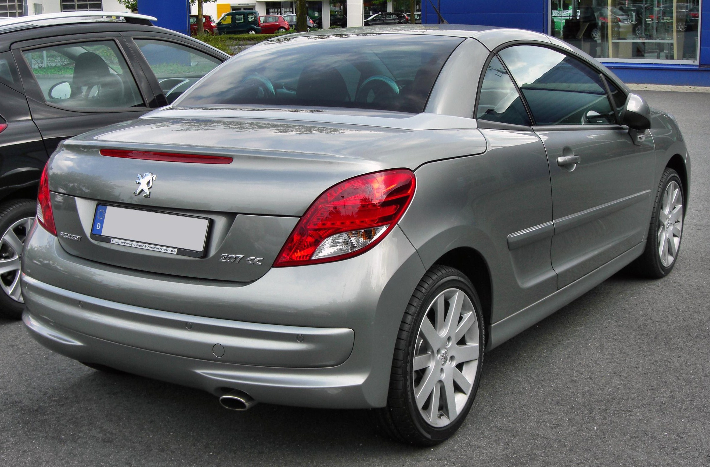 file peugeot 207 cc facelift 20090906 rear jpg wikimedia commons. Black Bedroom Furniture Sets. Home Design Ideas