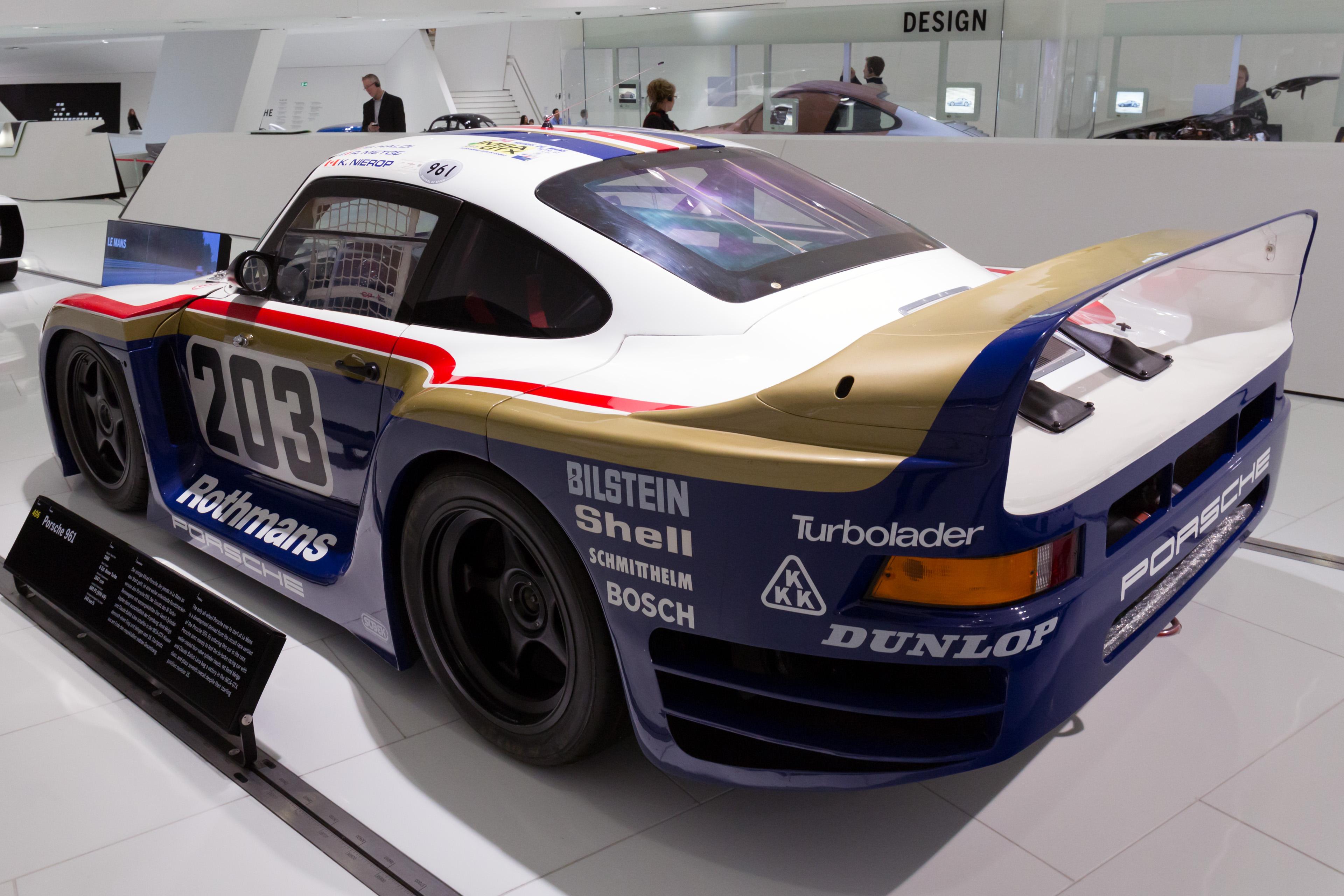 File:Porsche 961 rear-left Porsche Museum.jpg