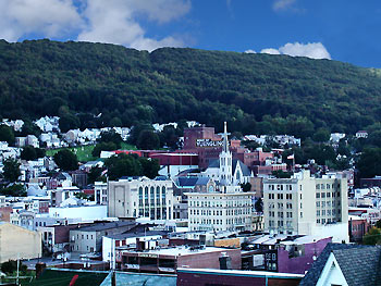 View of Pottsville, Pennsylvania.