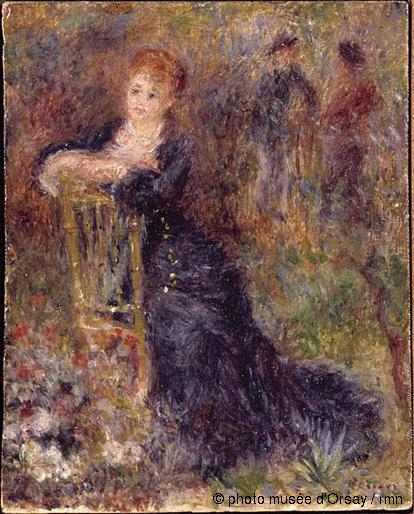 File renoir jeune femme assise dans un for Dans in jardin