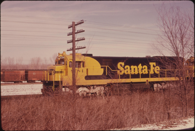 Kansas johnson county prairie village - File Santa Fe Railroad Engine On The Tracks In Johnson County Kansas Near Kansas