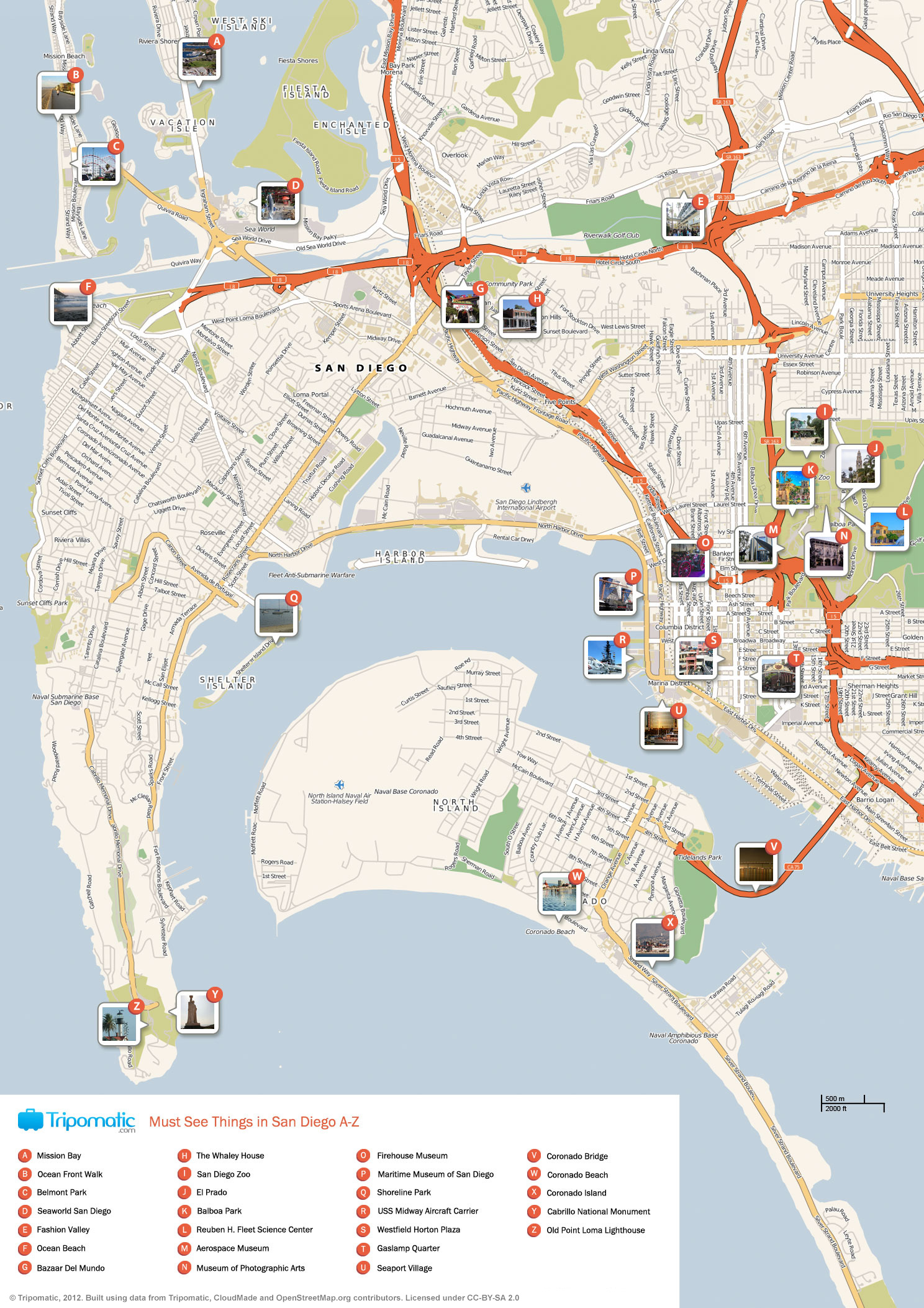 File:San Diego printable tourist attractions map.   Wikimedia