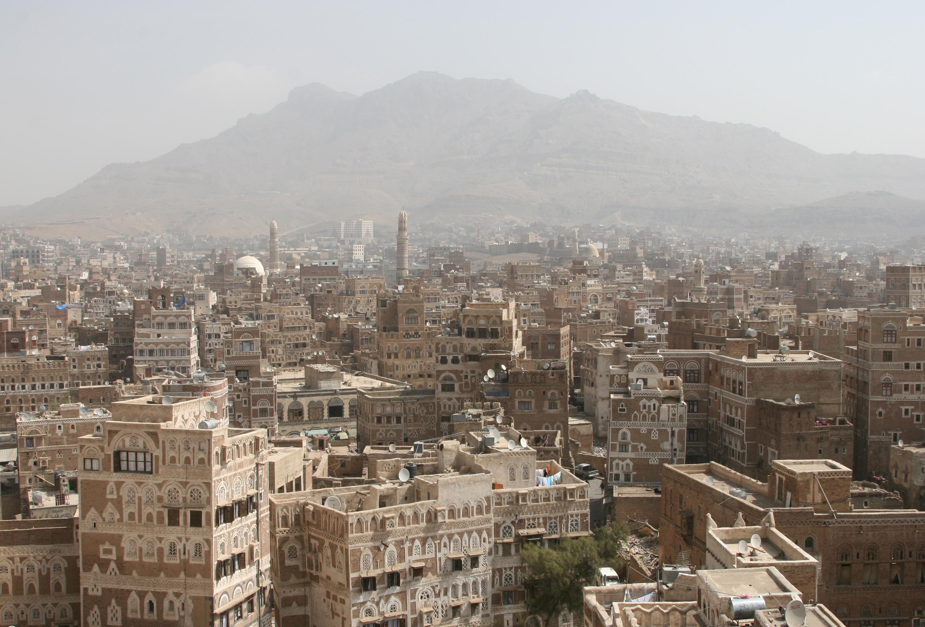 Ansicht von Sana'a vor Kriegsausbruch (Wikipedia)