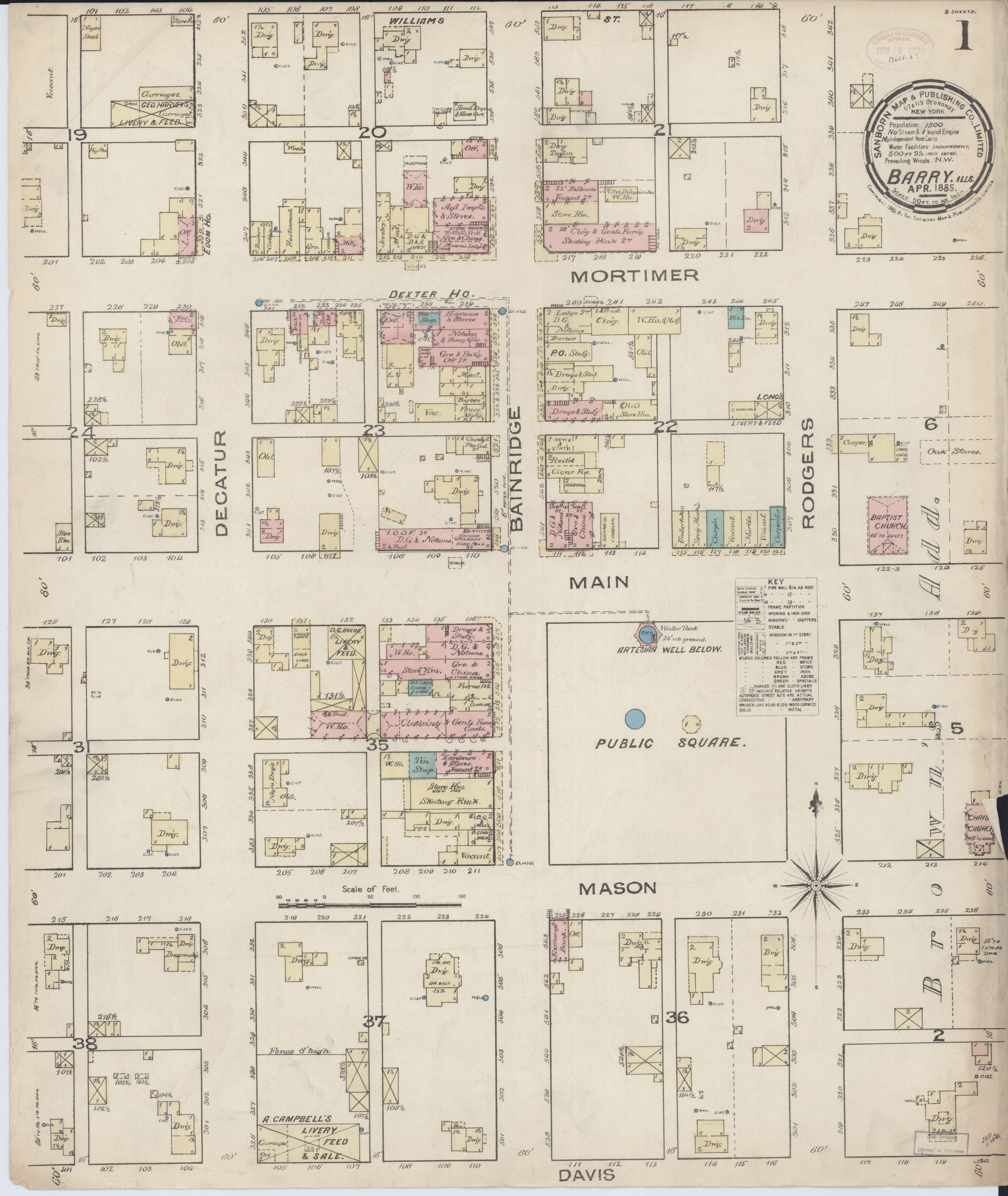 File Sanborn Fire Insurance Map From Barry Pike County Illinois