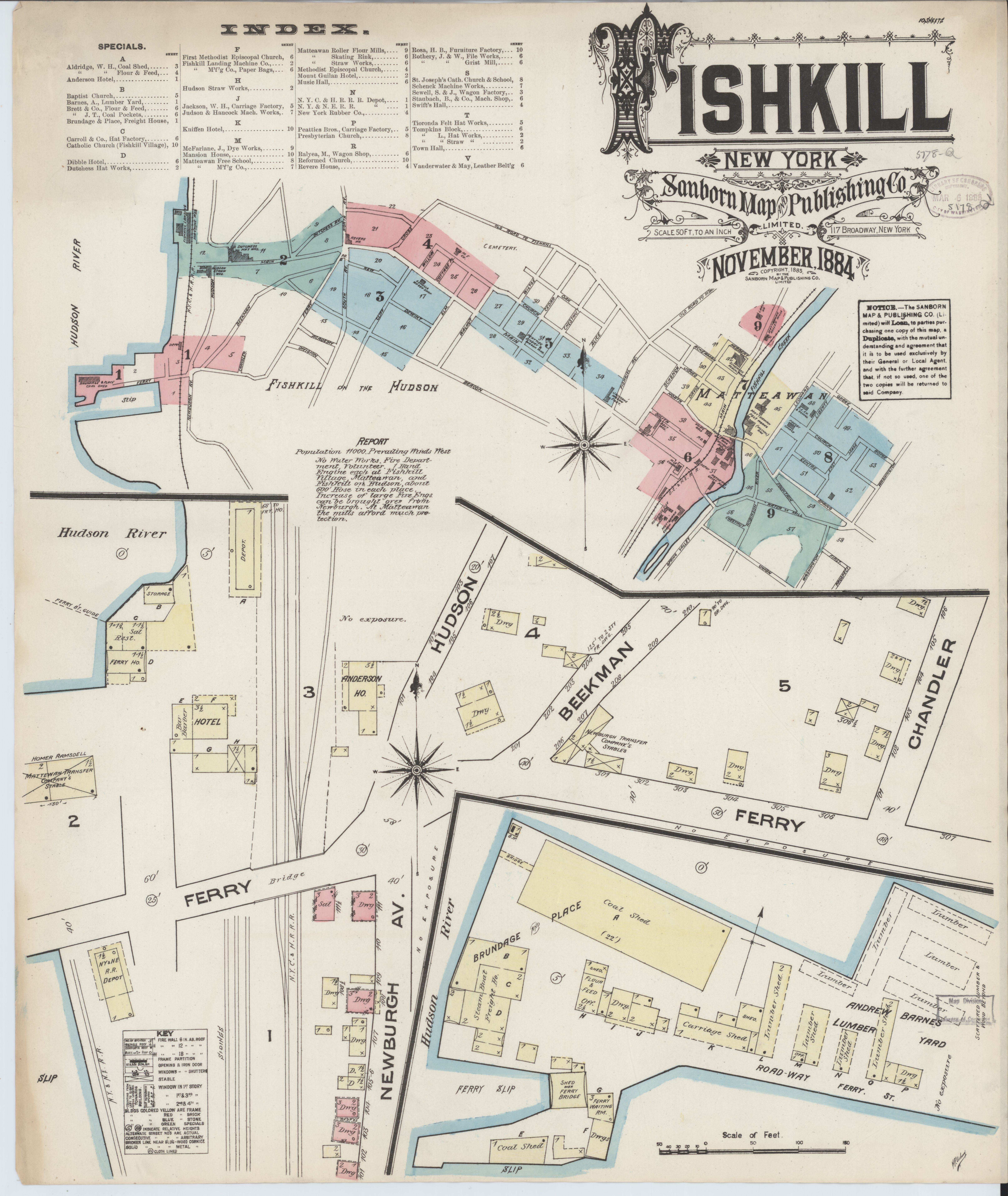 File:Sanborn Fire Insurance Map from Fishkill-on-the-hudson ... on