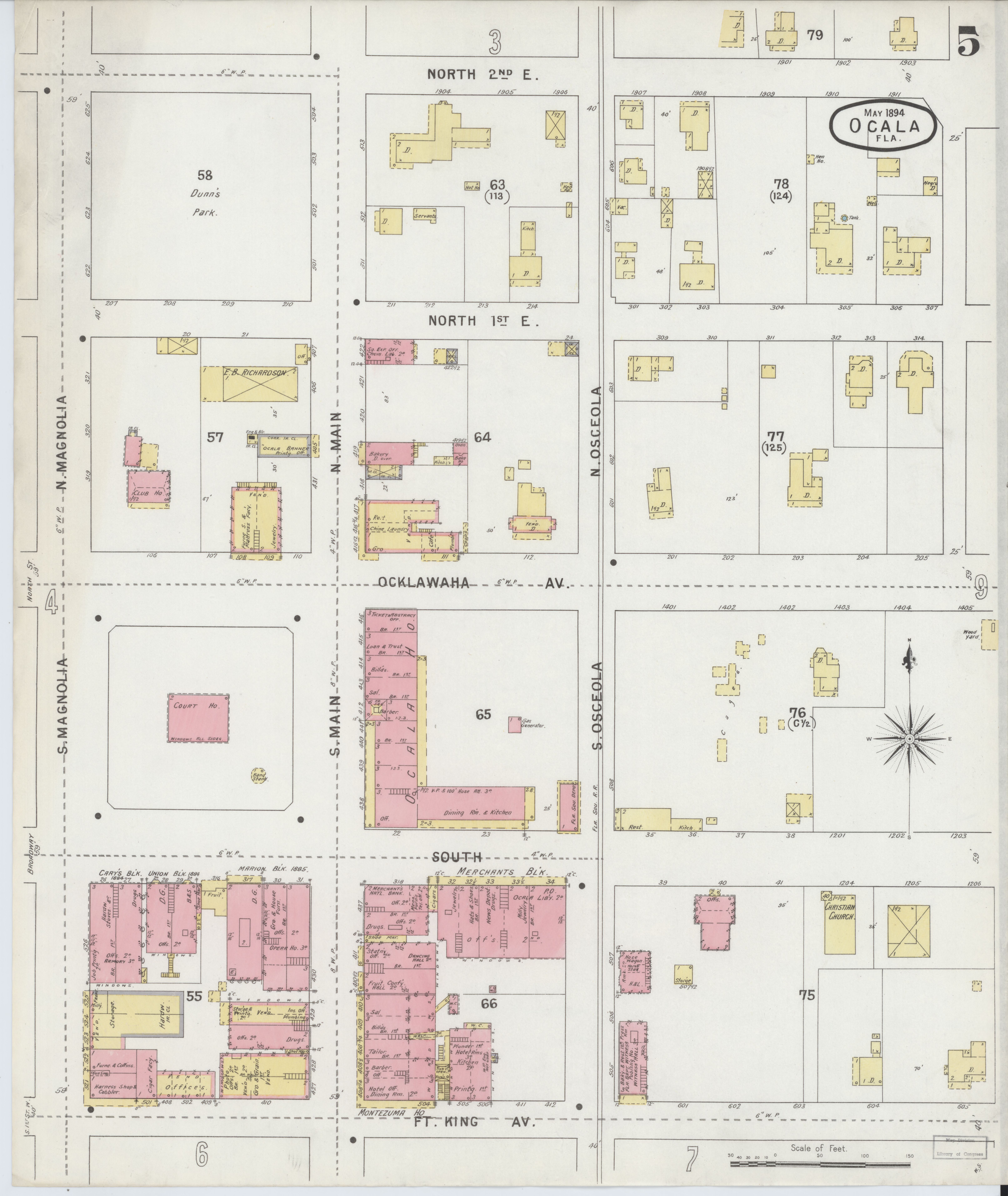 File:Sanborn Fire Insurance Map from Ocala, Marion County, Florida on map of chokoloskee florida, map of saint lucie florida, map of dover florida, map of south gulf cove florida, map of ft. walton florida, map of port of miami florida, map of orlando florida, map of ruskin florida, map of the acreage florida, full large map of florida, map of coconut grove florida, map of lakeland florida, map of indian creek florida, map of tampa florida, map of everglades florida, map of lawtey florida, map of gainesville florida, map of micco florida, map of orange springs florida, map of davie florida,