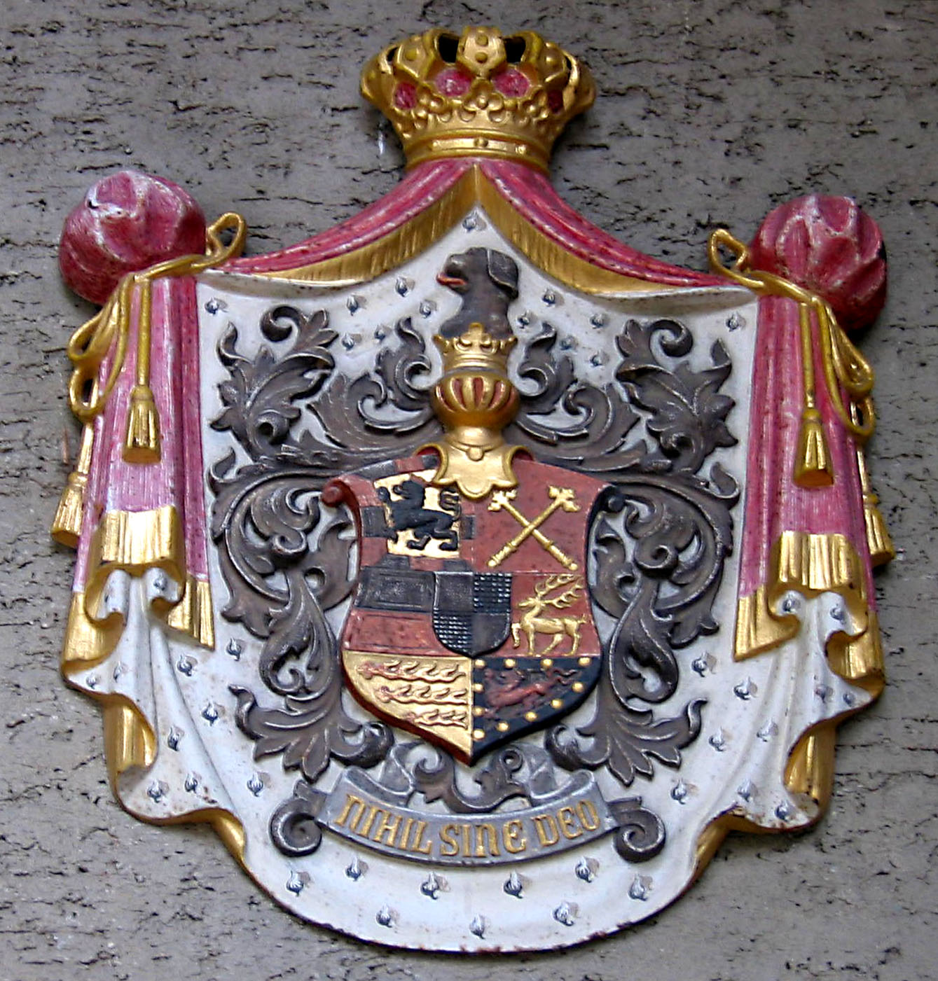 Combined coat of arms of the House of Hohenzollern-Sigmaringen (1849).