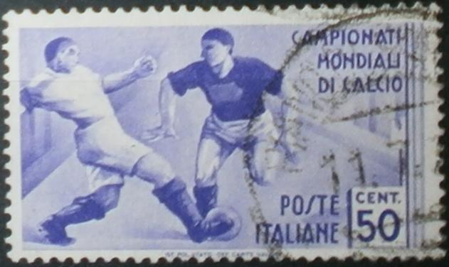 Secondi campionati mondiali calcio del 1934 (World Cup 1934 stamp) - 50 cent - violetto - 1934 - Kingdom of Italy stamp