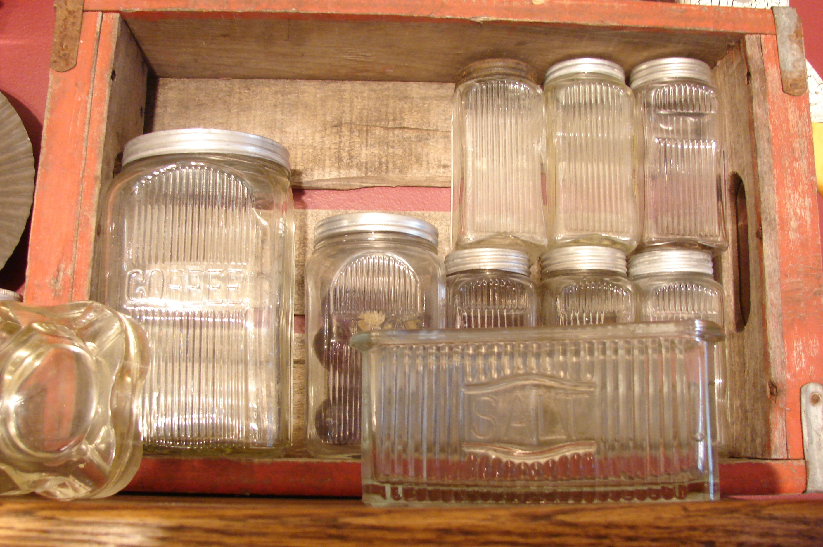 Description sneath glass company canisters for hoosier cabinets jpg