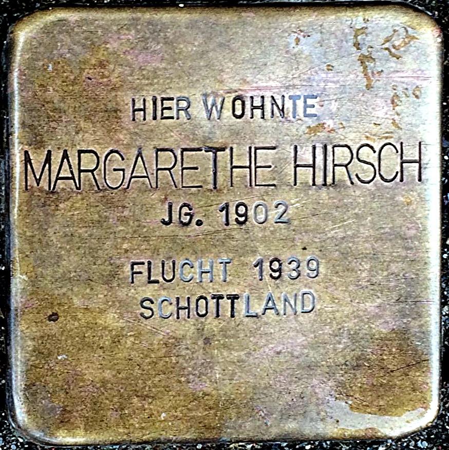 Stolperstein Hirsch, Margarethe.jpg