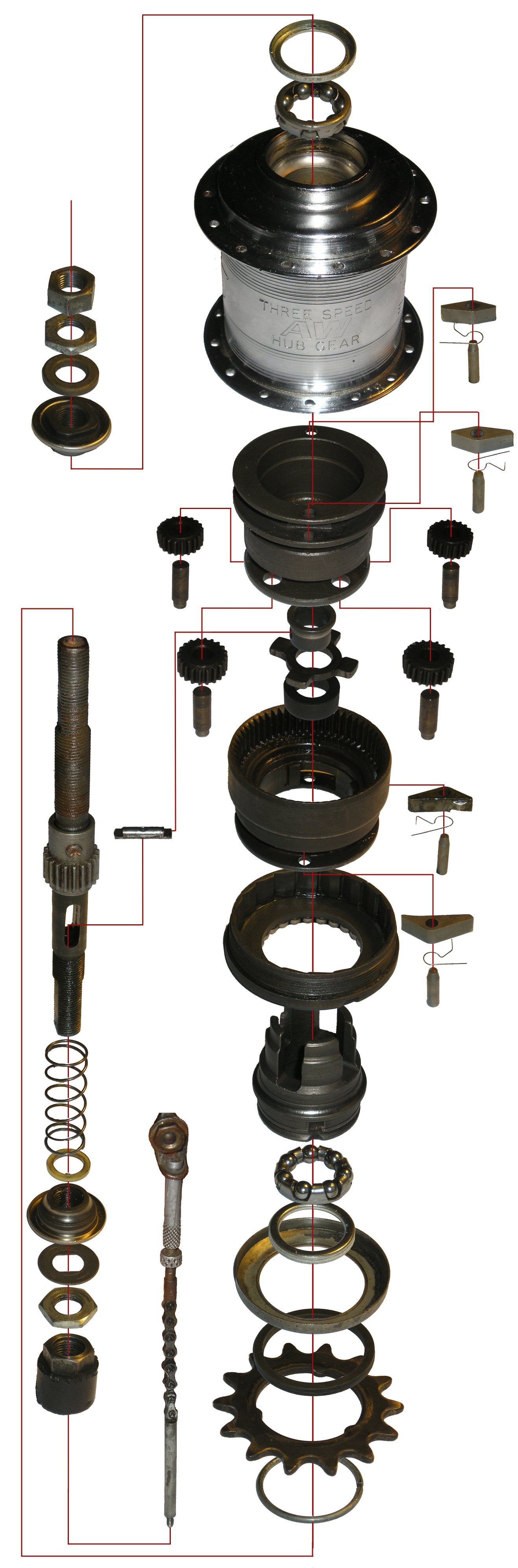 Bicycle Rear Hub Exploded View : Bicycle hub diagram free engine image for user
