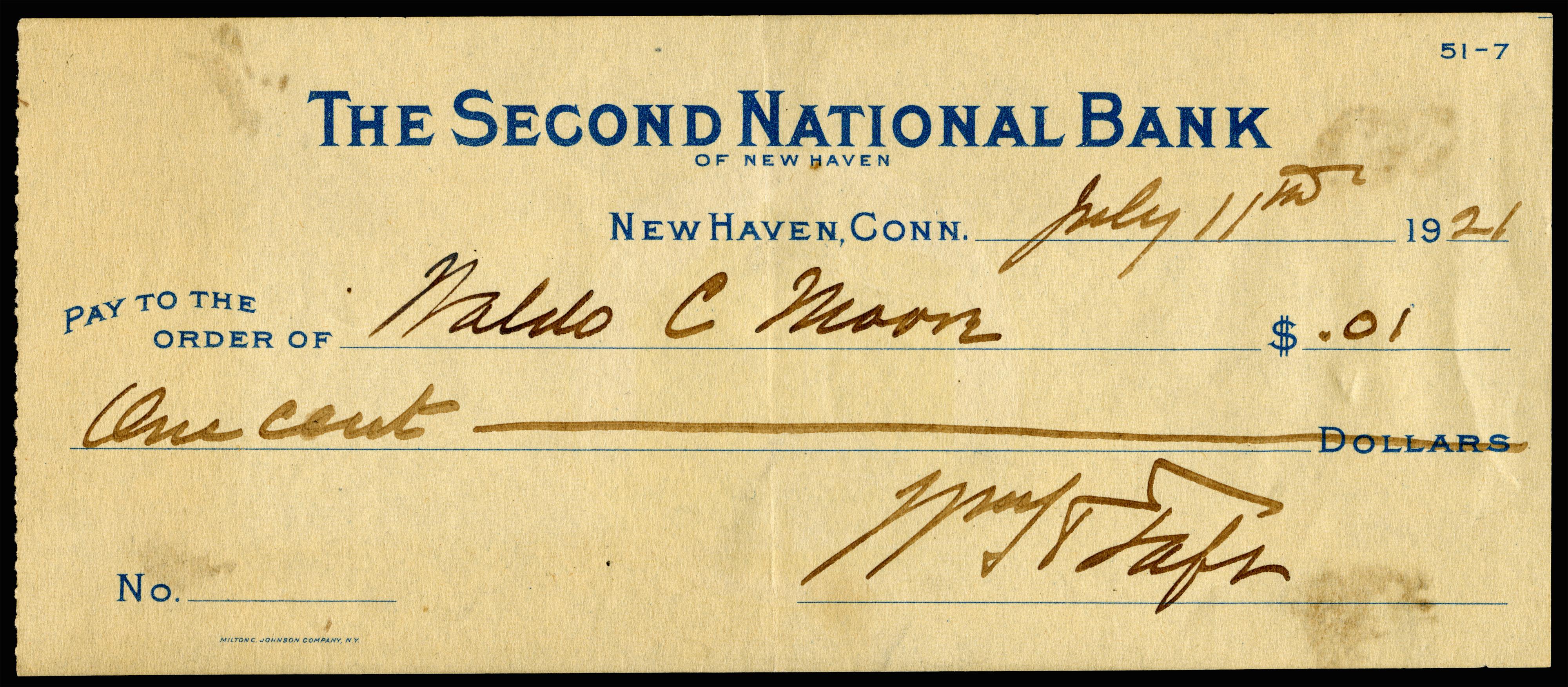 File:TAFT, William H (signed check).jpg - Wikimedia Commons