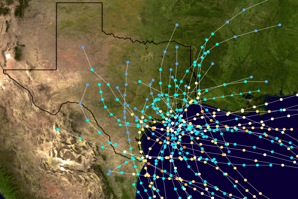 Map Of Texas Hurricane List of Texas hurricanes (pre 1900)   Wikipedia