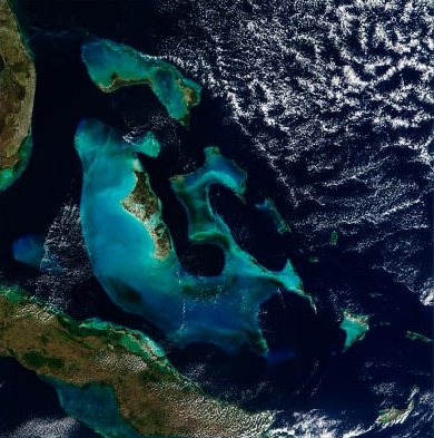 The Bahamas satellite map