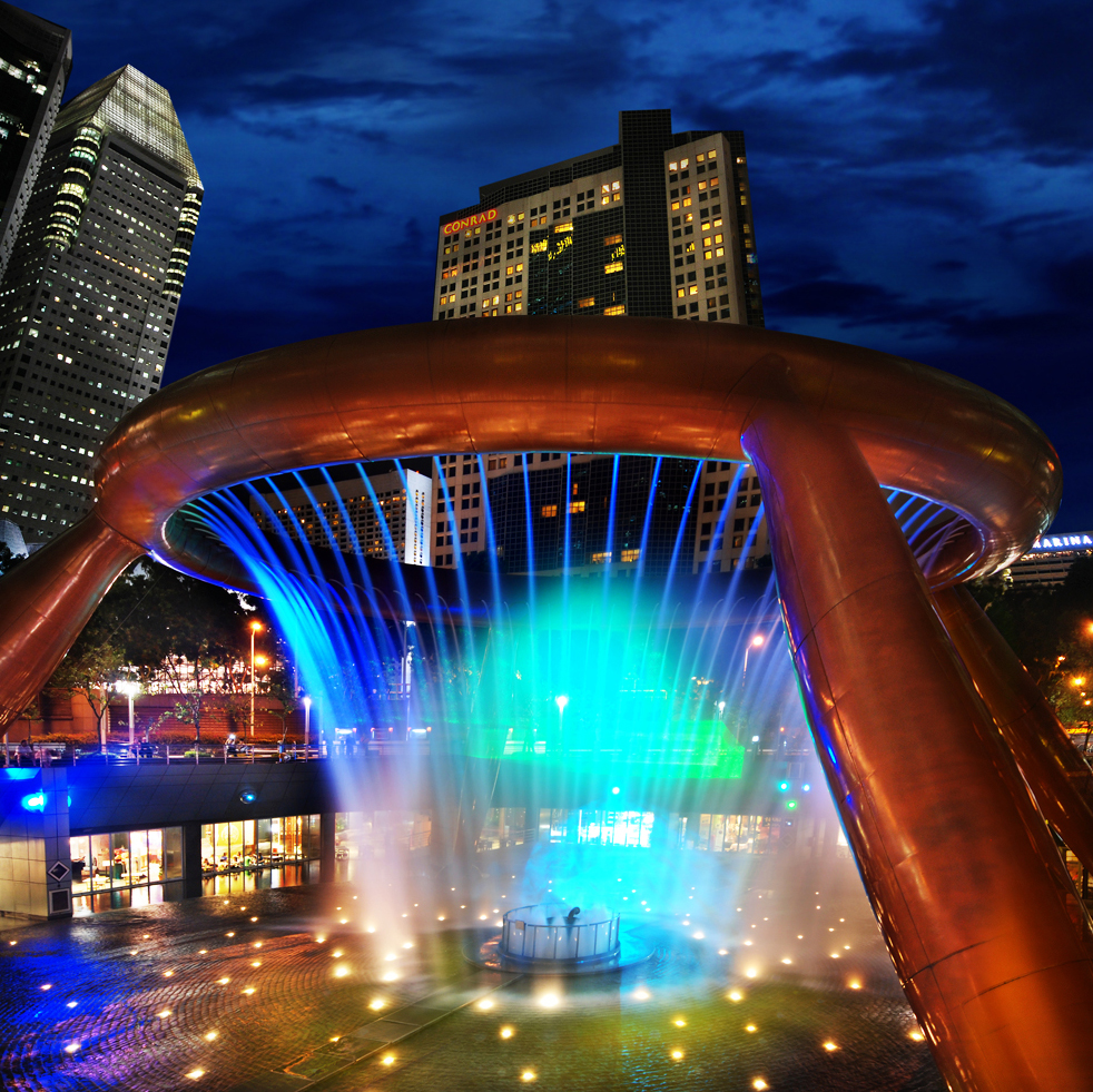 Garden Design Japanese Water Fountain In Mall With Chic: Travel Ideas: Going To Singapore,check The Fountain Of Wealth