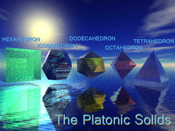 The Platonic solids - 5 Polyhedra
