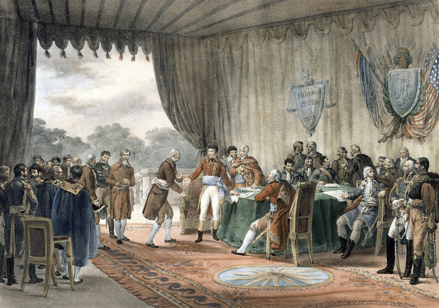 Файл:The Signing of the Treaty of Mortefontaine, 30th September 1800 by  Victor-