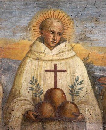Tolomei Bernardo, Affresco con San Bernardo Tolomei, a Monte Oliveto Maggiore