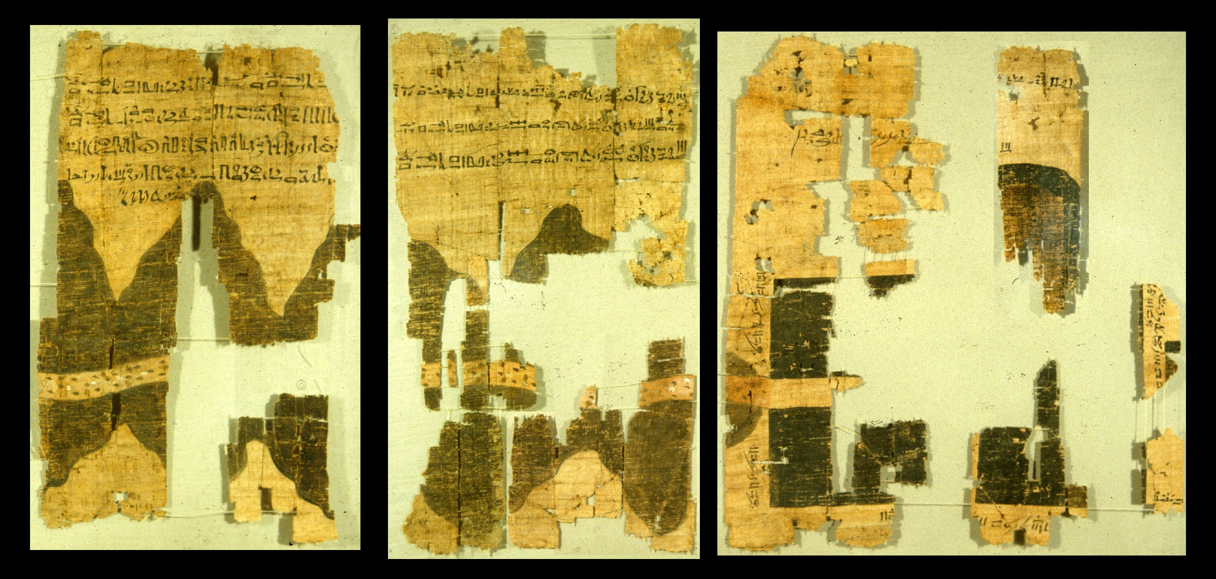 Ancient Egyptian mining map on papyrus