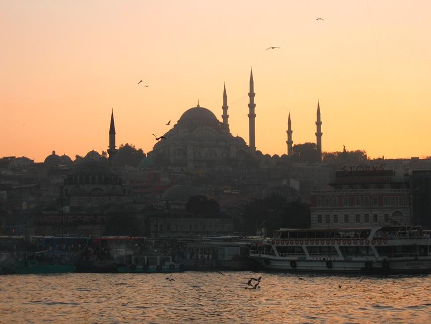 voyage voyage Turquie_-_Istanbul_-_Vue_-_Pris_du_bosphore