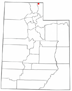 Location of Garden City, Utah