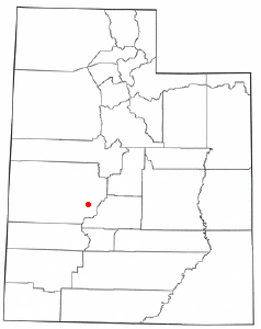Location of Meadow, Utah
