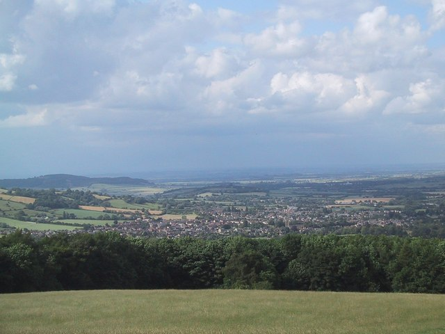 View of Winchcombe from near Belas Knap - geograph.org.uk - 1390299
