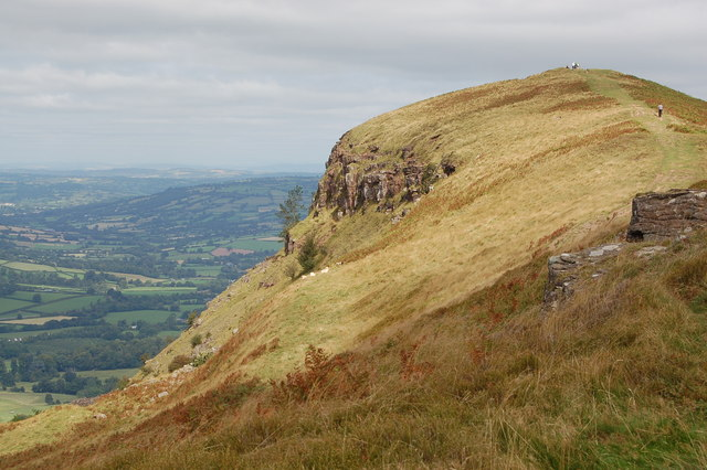 View towards the summit of Skirrid Fawr looking north - geograph.org.uk - 767399
