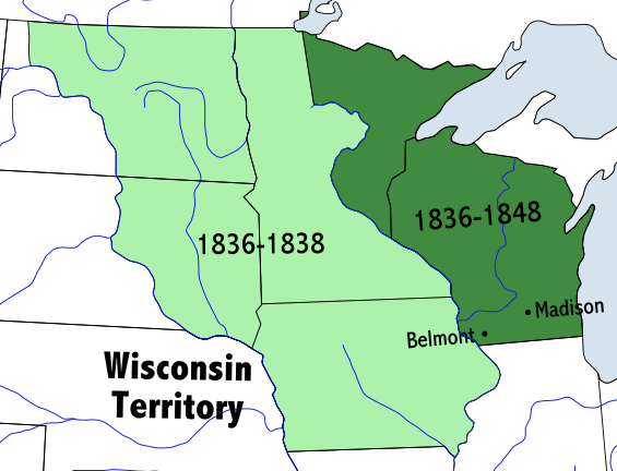 Where Is Wisconsin In Usa Map.Wisconsin Territory Wikipedia