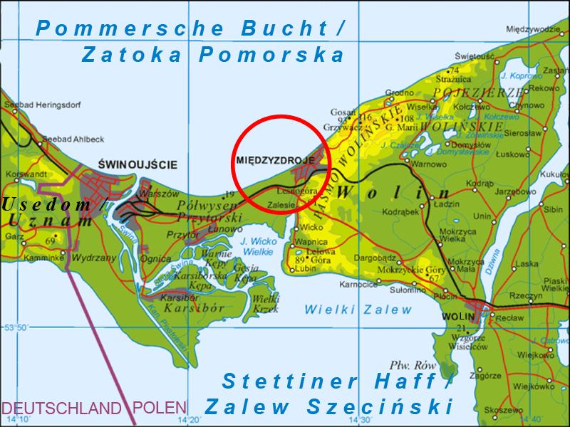 Location of Międzyzdroje