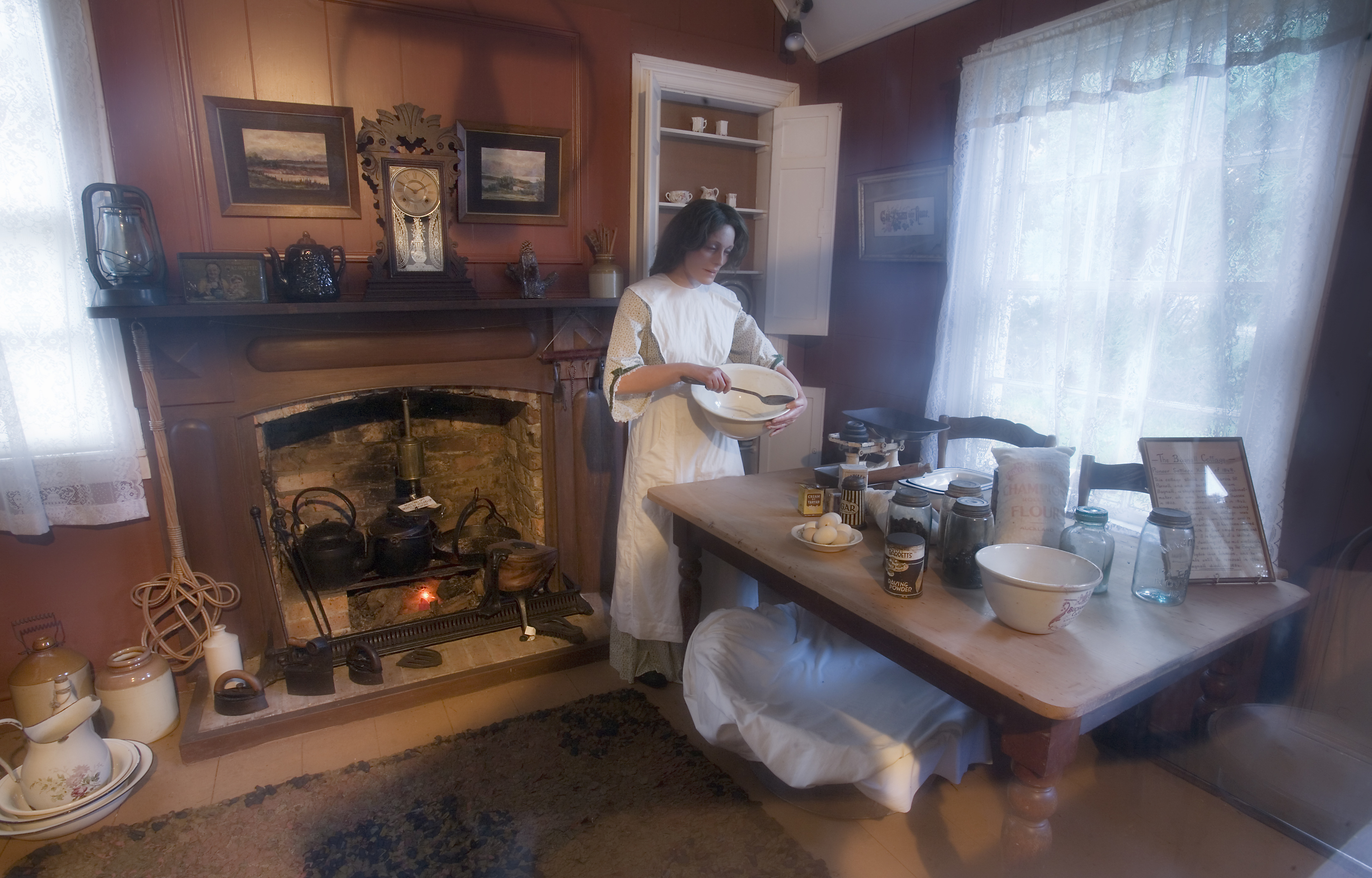 File Woman Batting A Mix In A 19th Century Kitchen