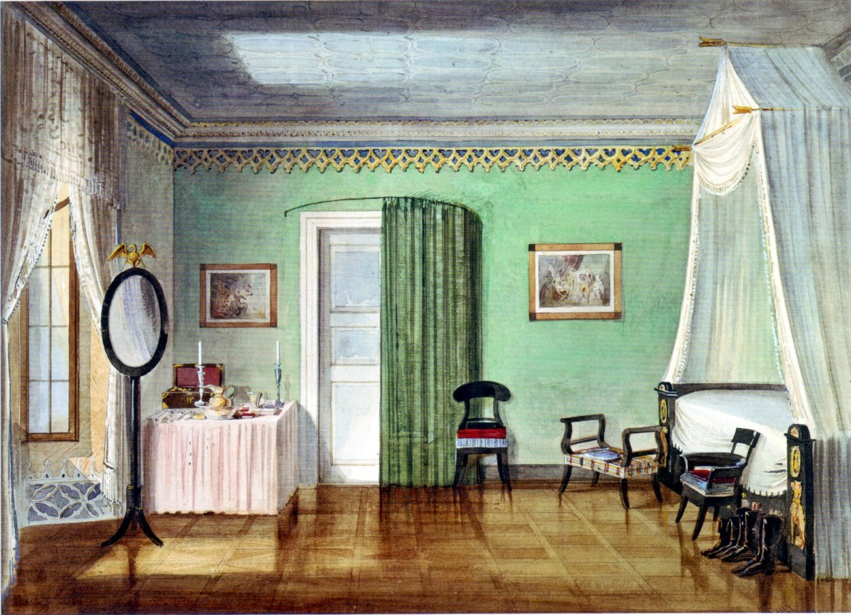 Leopold Zielcke Zimmerbild Painting Of A Room Biedermeier Interior