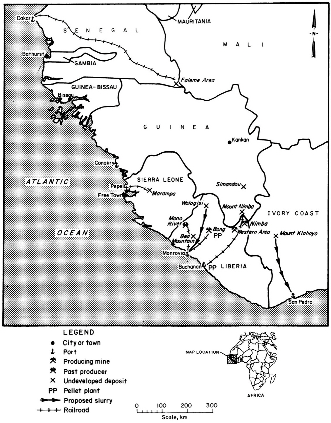 File Iron Ore Location Map West Africa Depositsjpg - Map of us with west undeleoped