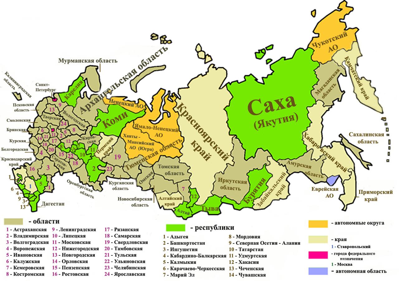 Федеративное устройствo России было установлено в январе 1918 года, вскоре после установления...  9 краёв.
