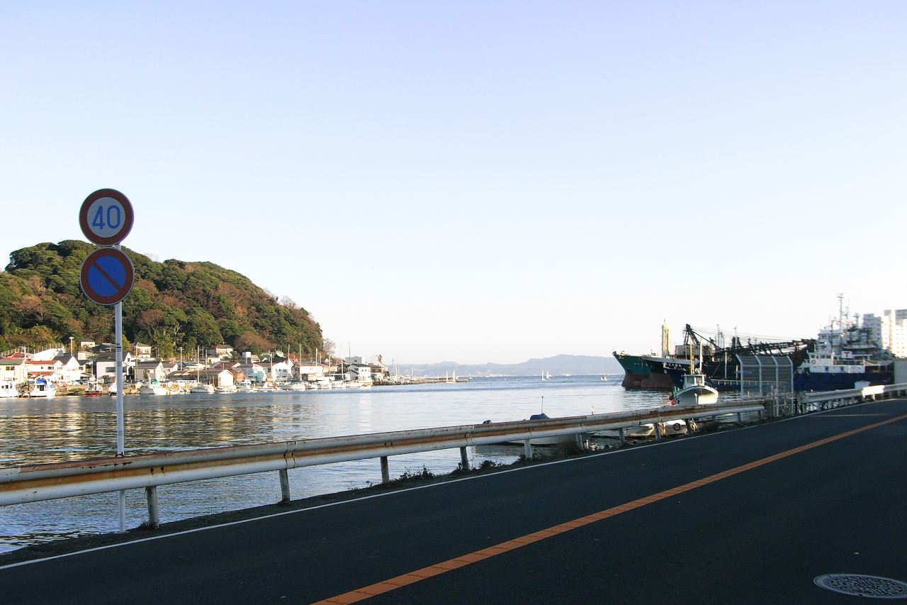 浦賀湾から東京湾を望む