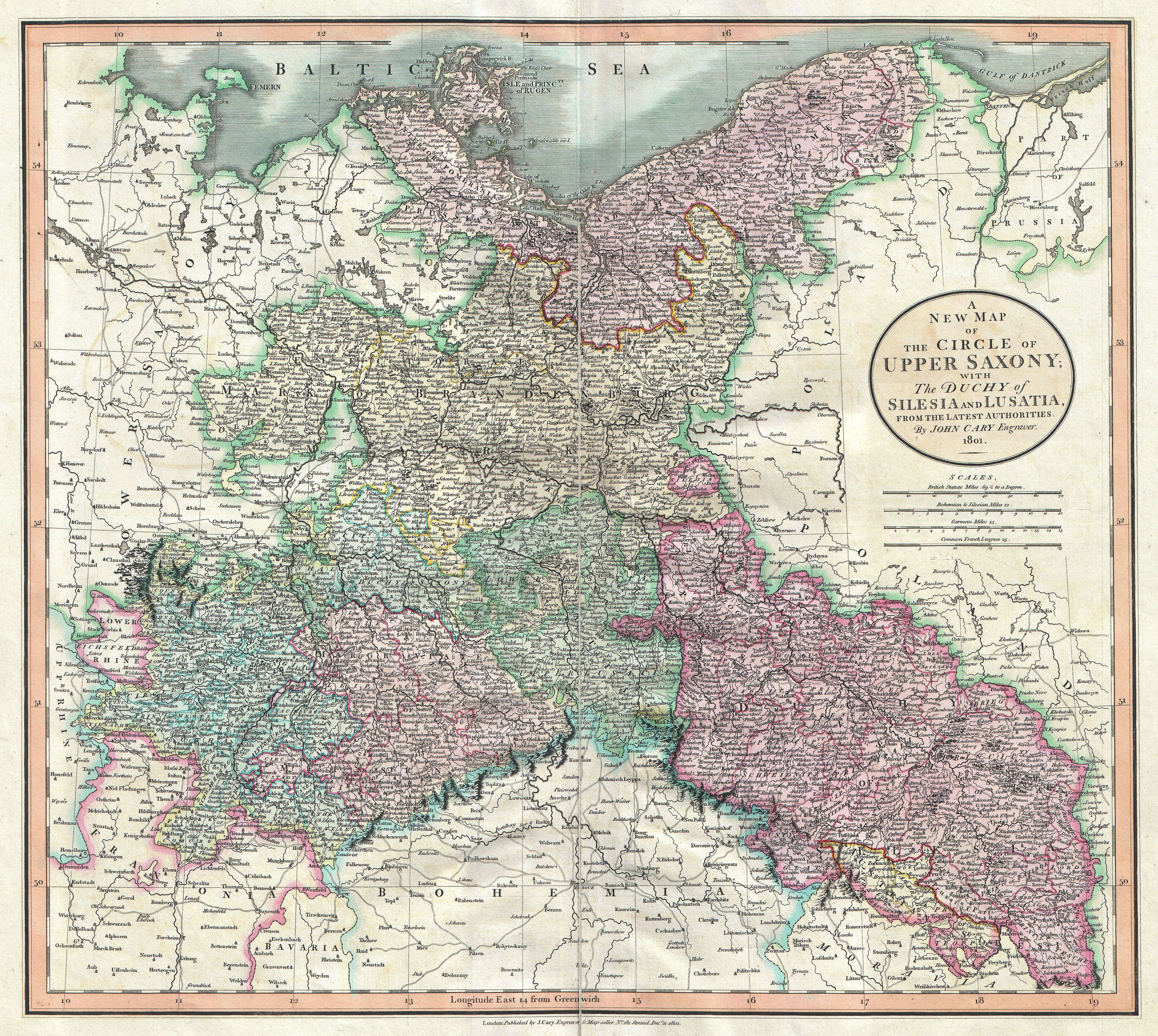 Dresden On Map Of Germany.File 1801 Cary Map Of Upper Saxony Germany Berlin Dresden