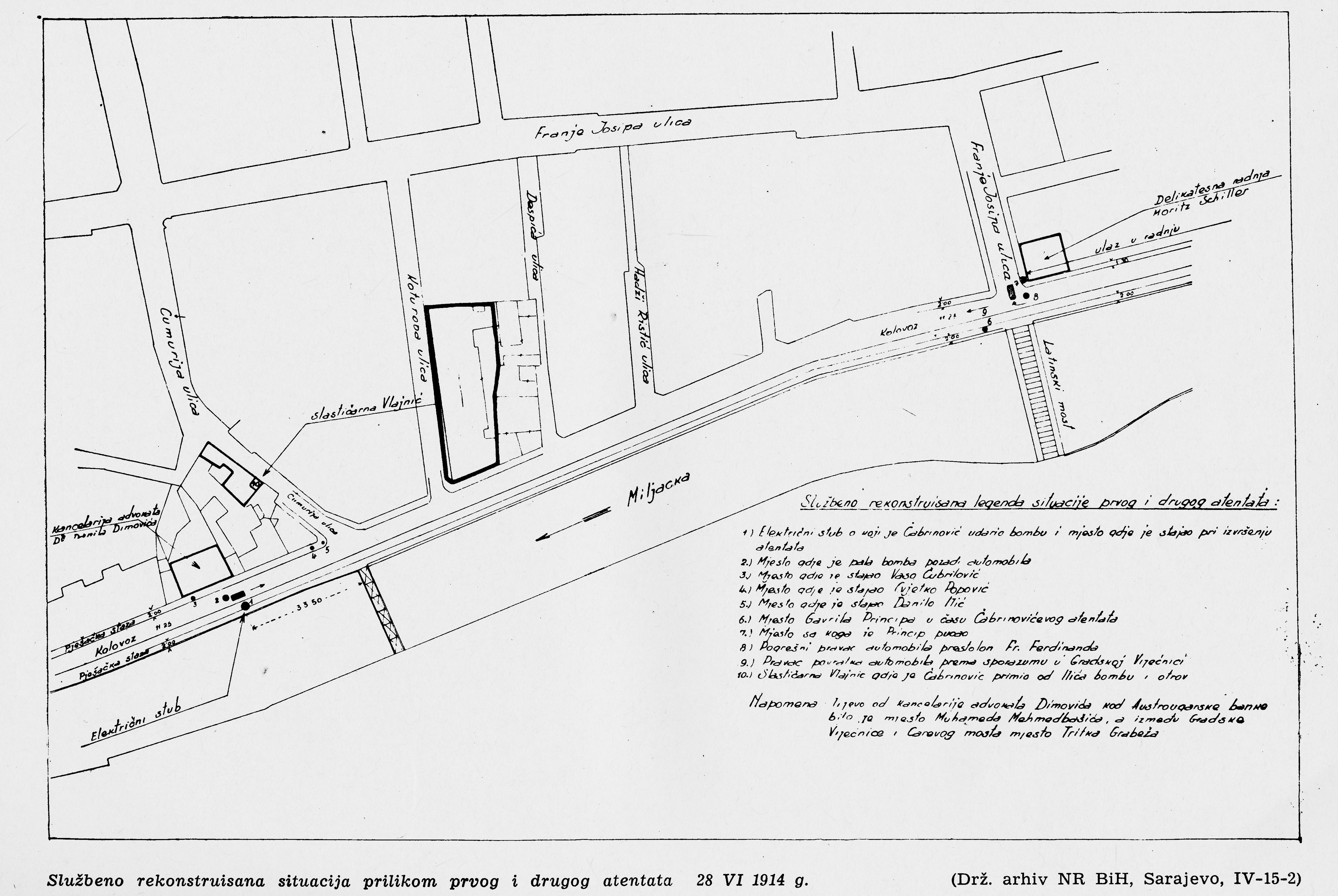 File1914 Sarajevo Assassination Mapjpg Wikimedia Commons