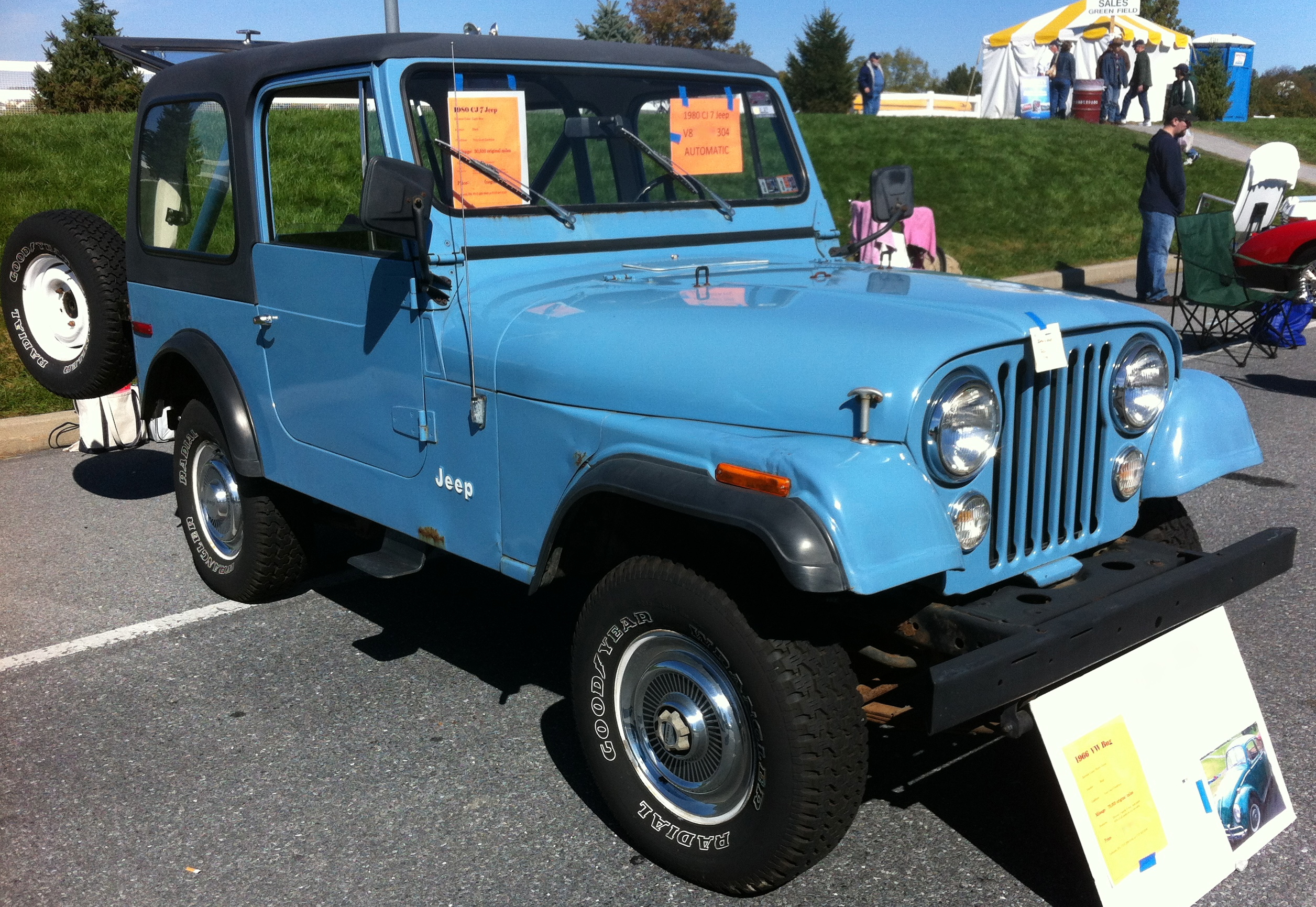 File 1980 Jeep Cj 7 Blue V8 Automatic Hershey 2012 Jpg
