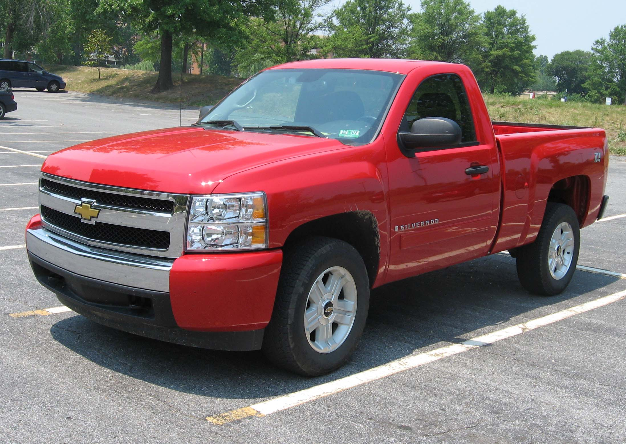 Chevy Silverado Single Cab 2007 >> File:2007-Chevrolet-Silverado-regcab.jpg - Wikimedia Commons